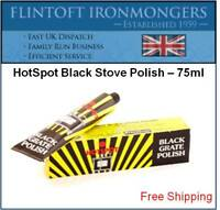 Hotspot Black Stove and Grate Polish Zebo Zebrite -75ml