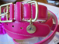 New COACH HOT PINK TURNLOCK EXTRA SMALL SMALL DOG CAT PET COLLAR XS S