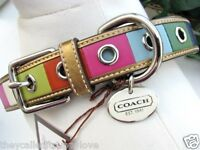 NEW XXS COACH LEGACY ALL LEATHER 6-8 INCHES EXTRA EXTRA SMALL DOG COLLAR XXS