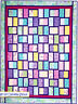"Frame of Mind - pieced quilt PATTERN for 2.5"" strips - 5 sizes"