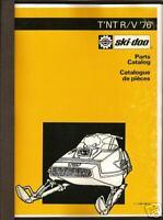 1976 SKI-DOO T'NT  RV SNOWMOBILE PARTS MANUAL BINDER