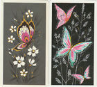 Vintage Swap/Playing Cards -2 SINGLE- NARROW SIZE PRETTY BUTTERFLIES