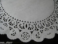 "14"" INCH WHITE PAPER NORMANDY LACE DOILIES 50 PCS CRAFT LACY DOILY ROUND CANADA"