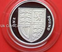 2008 UNITED KINGDOM ROYAL MINT ROYAL SHIELD ARMS SILVER PROOF £1 ONE POUND COIN