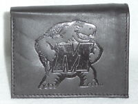 MARYLAND TERRAPINS    Leather TriFold Wallet     NEW     dark  z+
