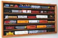 HO Train Display Case Cabinet for HO Scale Model Train Set - Lockable 98% UV
