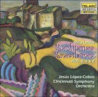 NEW Villa-Lobos: Bachianas Brasileiras Nos. 2, 4 & 8 (Audio CD)