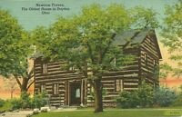 """The Newcom Tavern, Oldest House in Dayton, Ohio"" Postcard *FREE U.S. Shipping*"