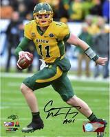 "Carson Wentz North Dakota State Bison Autographed 8"" x 10"" Running Photograph"