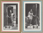 Vintage Swap/Playing Cards - 2 SINGLE- Door adverts with Mini skirt girls!