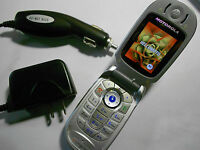 Motorola v400 Camera Quadband GSM Speaker Messaging Flip AT&T Cell Phone USED