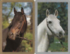 Vintage Swap/Playing Cards - 2 SINGLE- HORSE HEADS - PHOTO STYLE