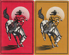 Vintage Swap/Playing Cards - 2 SINGLE- BUCKING HORSE AND COWBOY