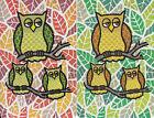 Genuine Swap/Playing Cards - 2 SINGLE- GREAT OWL TRIOS