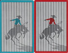 Vintage Swap/Playing Cards - 2 SINGLE- COWBOY AND HORSE