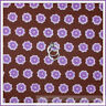 BonEful Fabric FQ Cotton Quilt VTG Brown Purple Dot Flower Calico Stripe Girl Sm