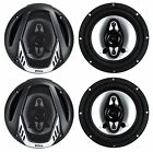 "4) NEW BOSS NX654 6.5"" 800W 4-Way Car Audio Coaxial Speakers Stereo Black 4 Ohm"