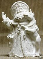 Ceramic Bisque Santa with Unicorn Gare Mold 3374 U-Paint Ready To Paint