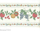 Country Mixed Fruit Vine Grape Apple Cherry Kitchen Apples Wall paper Border