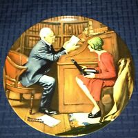 """""""The Professor """" By Norman Rockwell Knowles Collector Plate"""
