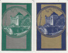 Vintage Swap/Playing Cards -2 SINGLE- DECO CASTLES GOLD/SILVER