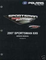 2007 POLARIS ATV SPORTSMAN 500 6X6 SERVICE MANUAL CD