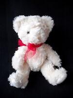 "RUSS TRADITIONAL TEDDY BEAR SOFT CREAM PLUSH COMFORTER TOY 8"" TALL  EX CONDITION"