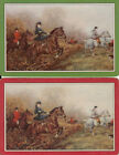 Vintage Swap/Playing Cards - 2 SINGLE- HORSE AND RIDERS, D