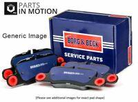 CADILLAC BLS Brake Pads Set Rear 2.0 2.8 1.9D 06 to 07 B&B Quality Replacement