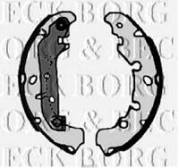 FORD FIESTA Mk4 1.6 Brake Shoes Rear 00 to 02 With ABS Set B&B 1106633 1106634