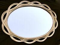 Grande Espejo de pared DORADO OVALADO 120 x 90 pasillo baño