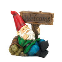 Summerfield Terrace - Welcome Gnome Solar Statue