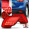 Chrome/Red LED Rear Bumper Reflector Tail Light Brake Lamp for 13-16 Mazda CX5