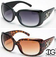 Designerbutterfly Gafas de Sol Retro Grande Tiras Gran Pantalla UV400 Mujer IG