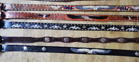WESTERN EXPRESS LEATHER BELTS CONCHOS PLATING PAINTED EMBOSSED ALL SIZES STYLES