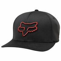 Fox Racing Men's Lithotype Flexfit Hat Black Red Headwear Baseball Cap