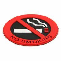 2X(5x Mini NO SMOKING Sign Warning Logo Rubber Adhesive Stickers Car Taxi Dec 2A