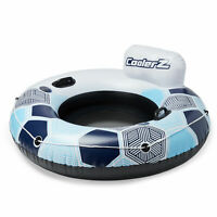 Bestway CoolerZ Rapid Rider Inflatable Blow Up Pool River Tube Float, Blue
