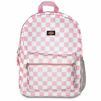 Dickies Unisex Student Backpack Bag Checkered Pink School Travel Casual