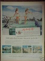1956 United Aircraft,Airplane,Airlines Dolphin Print Ad