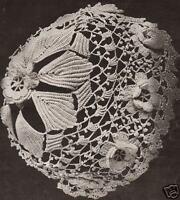 Vintage Antique Crochet PATTERN to make Baby Cap Hat Bonnet Irish Rose Leaf IriC