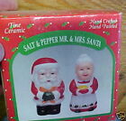 vintage Salt and Pepper Shakers Christmas Mr. Mrs. Santa Claus