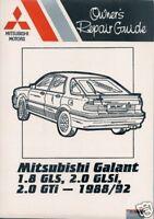 Mitsubishi Galant 1.8 GLS / 2.0 GLSi / 2.0 GTi '88-'92 workshop / service manual
