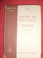 LIBRO SATIRE ED EPISTOLE ANNO 1941 di CONCETTO MARCHESI riveduta ed. PRINCIPATO