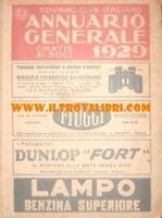 ANNUARIO GENERALE TOURING CLUB ITALIANO Tci 1929