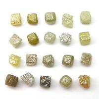 10+ Carats Natural Rough Diamond Diamonds 1/2 Cubes Gem