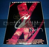 X FILES CAST X2 PP SIGNED POSTER 12X8 ANDERSON DUCHOVNY