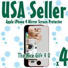 4x USA Fast  Mirror Screen Protector Apple iPhone 4 4G