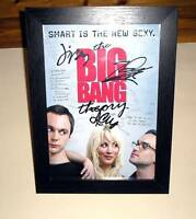 "THE BIG BANG THEORY PP SIGNED & FRAMED 12""X 8"" POSTER"