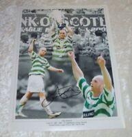 John Hartson 12x16 Signed Celtic Photo AFTAL / UACC
